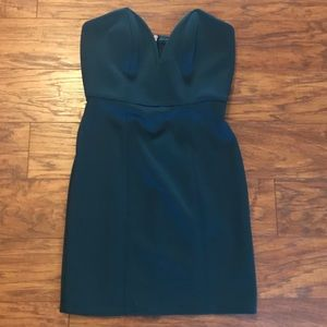 Dark Teal Strapless Mini Dress